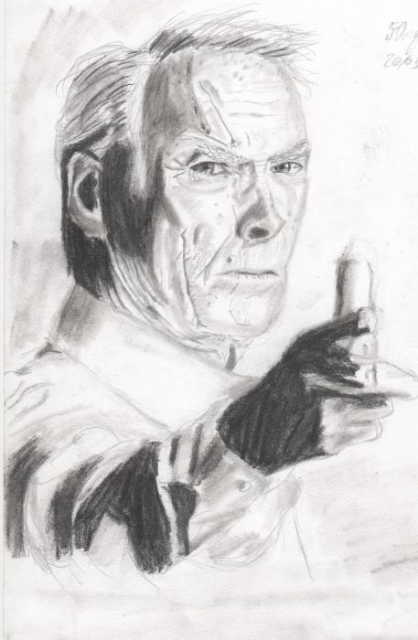 Clint Eastwood por Flave